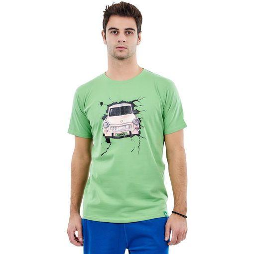 """T-Shirt Combed Light Green """"Retro Car"""""""