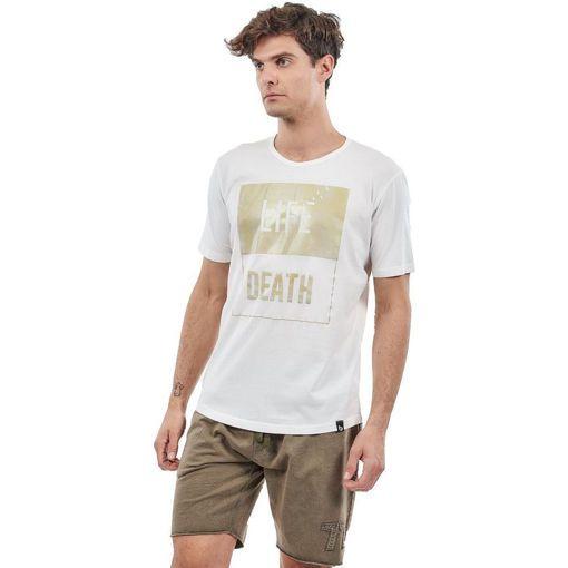 "T-Shirt Garment Wash Off White ""Life & Death"""
