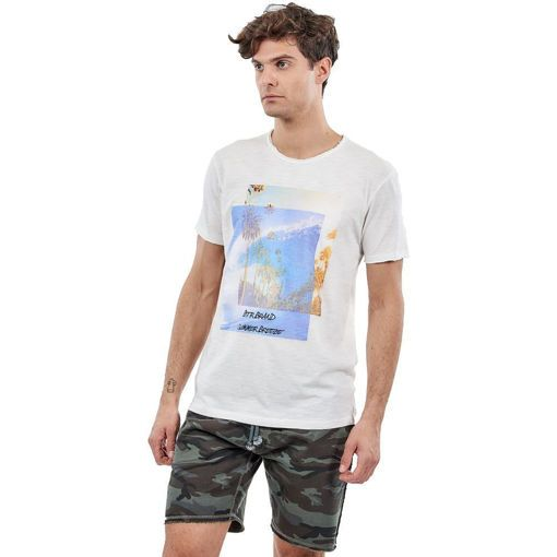 "T-Shirt Garment Wash Off White ""Summer Breeze"""
