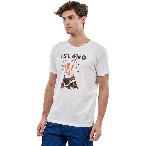 """T-Shirt Garment Wash Off White """"Volcano"""""""