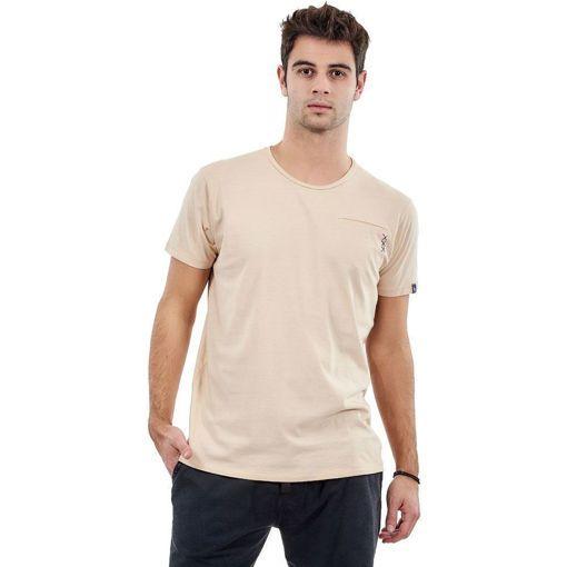 """Ανδρικό T-shirt """"Pocket Stitch"""" Battery Kίτρινο"""