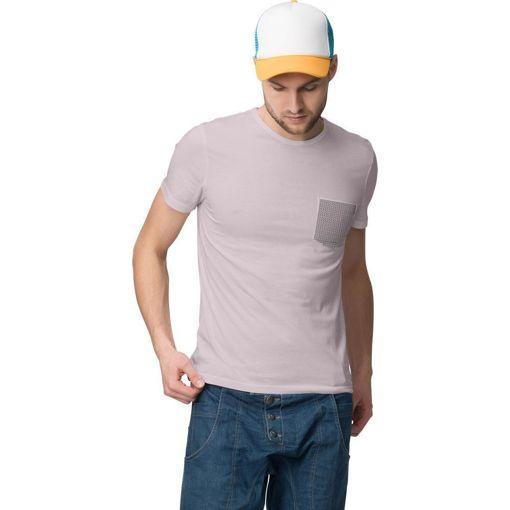 """Ανδρικό T-shirt """"Plaid Pocket"""" Battery Ροζ"""