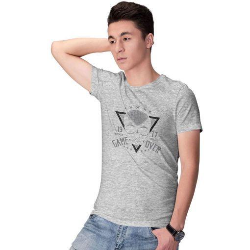 T-shirt Grey Melange ''Game Over''