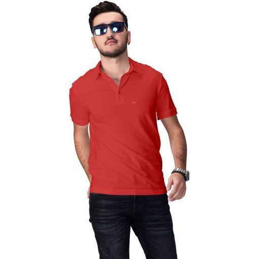 """Ανδρική Μπλούζα Polo """"Simplicity"""" Run Κόκκινη"""