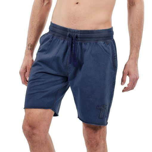 Bermudas, French Terry Garment Dyed Navy ''77''