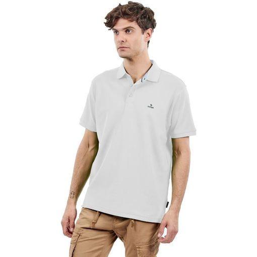 Ανδρική Μπλούζα Polo Battery Άσπρη