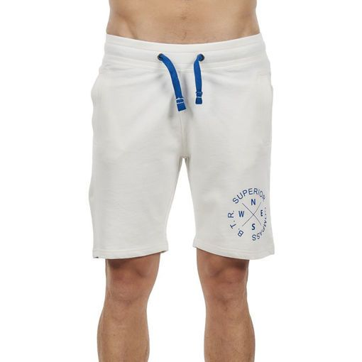 """Bermudas, French Terry Athletic Off White """"Superior Compass"""""""