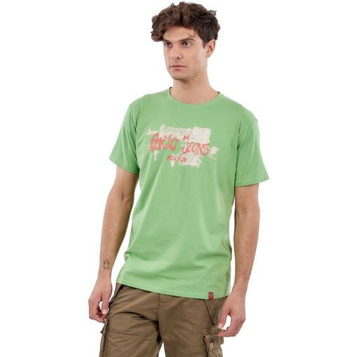 """T-Shirt Combed Light Green """"Grw Jeans"""""""
