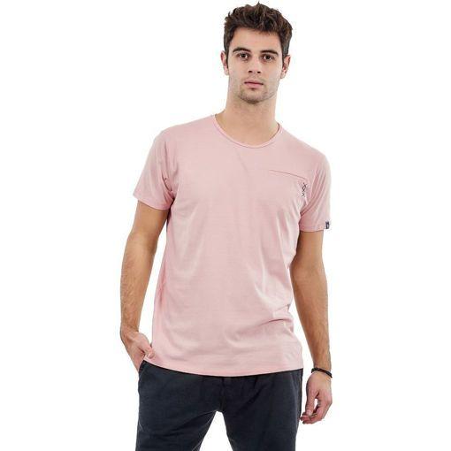 """Ανδρικό T-shirt """"Pocket Stitch"""" Battery Ροζ"""