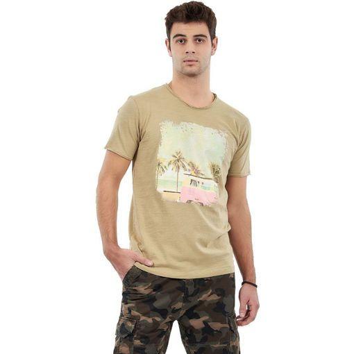 """Ανδρικό T-Shirt  """"Exotic Vacations"""" Greenwood Χακί"""