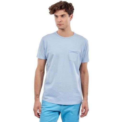 "Ανδρικό T-Shirt  ""Pocket On Chest"" Greenwood Σιέλ"
