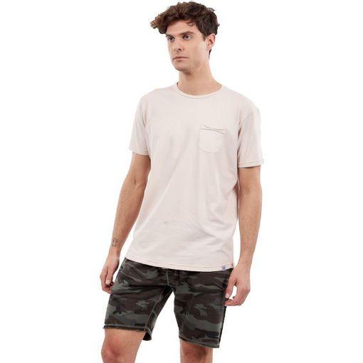 """Ανδρικό T-Shirt  """"Pocket On Chest"""" Greenwood Ροζ"""