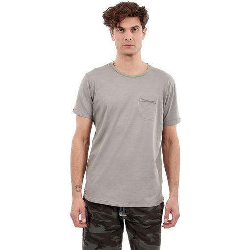 """Ανδρικό T-Shirt  """"Pocket On Chest"""" Greenwood Γκρι"""
