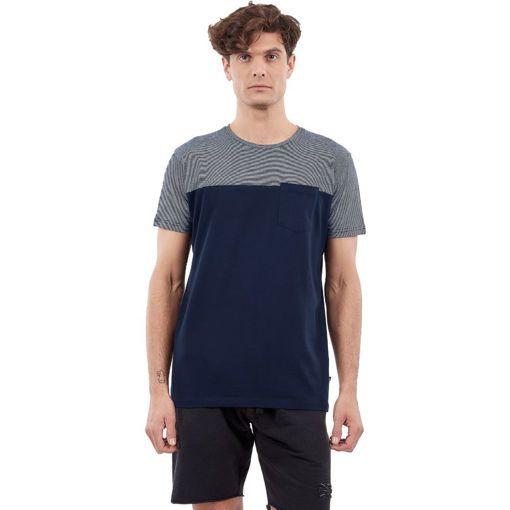 "T-Shirt Garment Wash Navy ""Devided"""