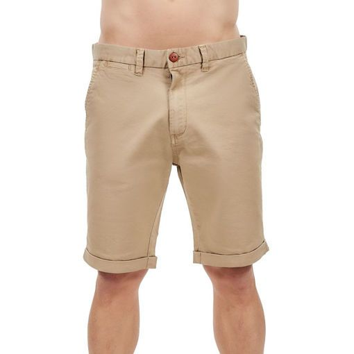 "Bermudas,Twill Chinos Garment Dyed Beige ""Daylight"""