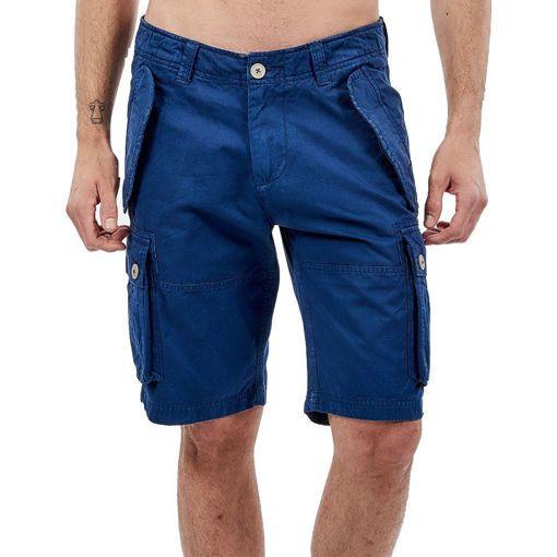 "Bermudas, Cargo Garment Dyed Indigo ""Traveler"""