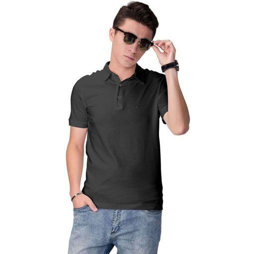 """Ανδρική Μπλούζα Polo """"Simplicity"""" Run Μαύρη"""