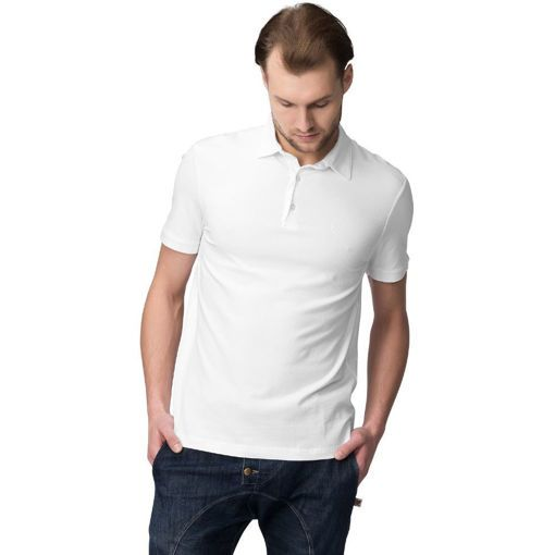 Polo Pique, Short Sleeve Silicon Wash White