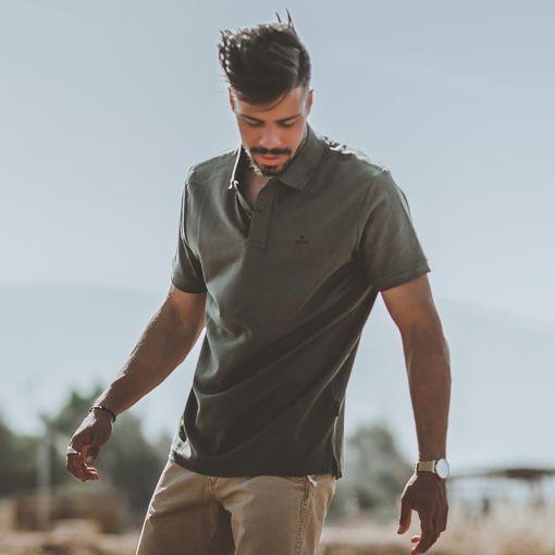 Polo Pique Short Sleeve Khaki