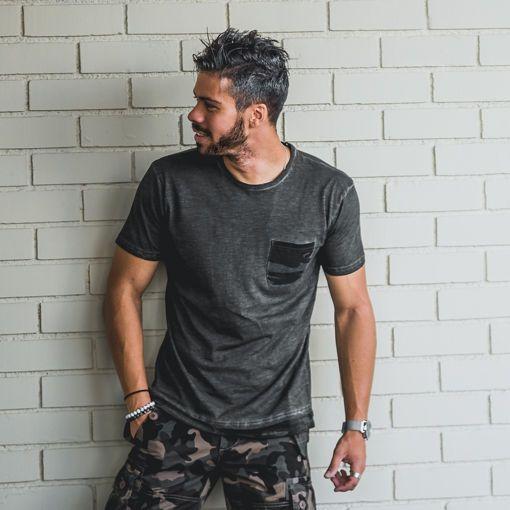 """T-Shirt Cold Dye Khaki """"Army Long Back"""""""