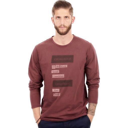 Ανδρική Μπλούζα Μακρυμάνικη Greenwood Σκούρο Μωβ