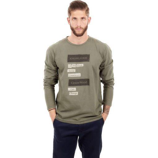 Ανδρική Μπλούζα Μακρυμάνικη Greenwood Χακί