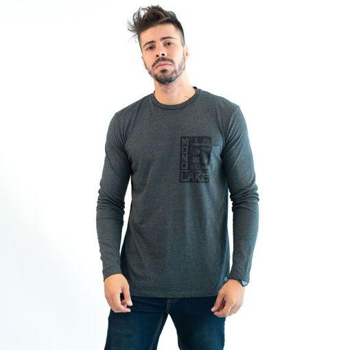 Ανδρική Μπλούζα Μακρυμάνικη Greenwood Γκρί