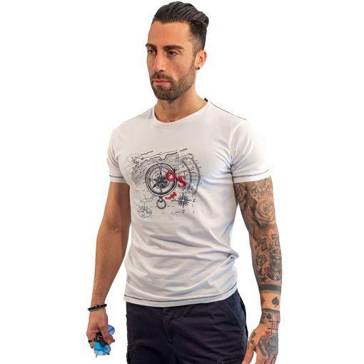 """Ανδρικό T-Shirt """"Compass"""" Ocean Shark"""