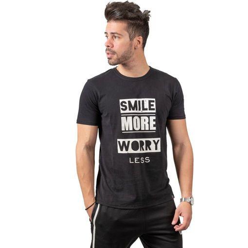 """Ανδρικό T-shirt """"Smile More"""" Battery"""