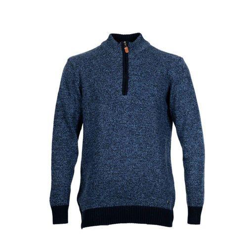 Ανδρική πλεκτή μπλούζα half zip RUN