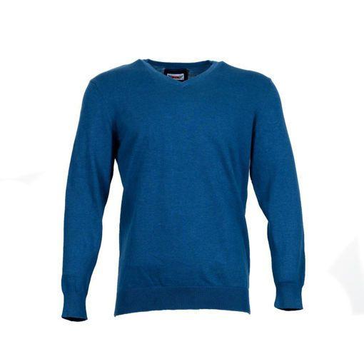 Ανδρική πλεκτή μπλούζα με λαιμό V