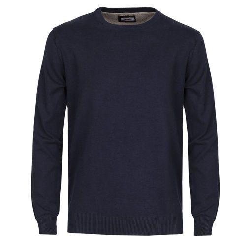 Ανδρική πλεκτή μπλούζα RUN Indigo