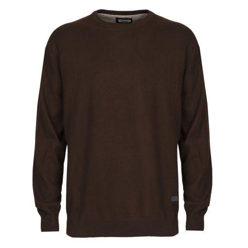 Ανδρική πλεκτή μπλούζα RUN Καφέ