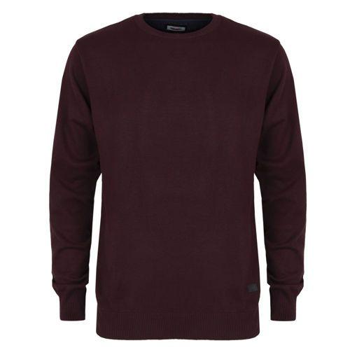 Ανδρική πλεκτή μπλούζα RUN Μπορντό