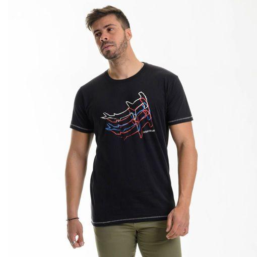 Ανδρικό βαμβακερό T-shirt Ocean Shark