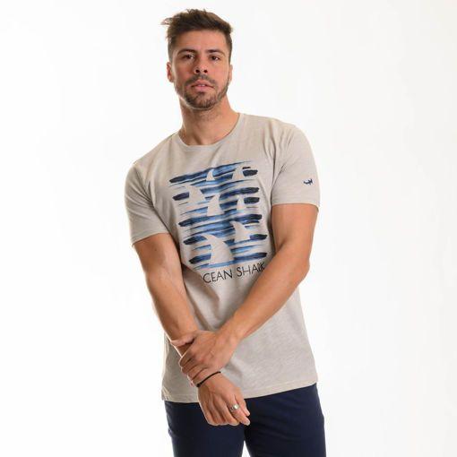 """Ανδρικό βαμβακερό T-shirt Ocean Shark """"OS"""""""