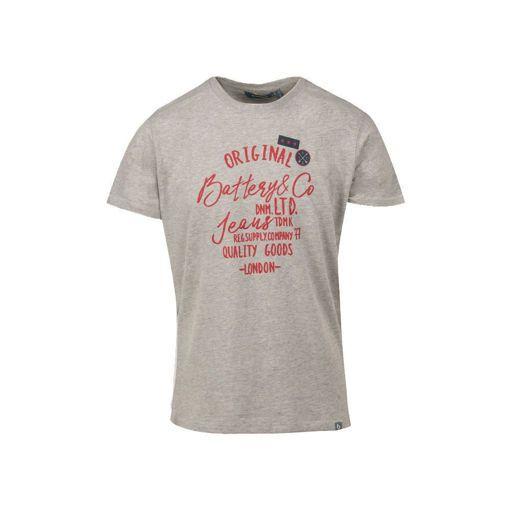 """Ανδρικό βαμβακερό T-shirt Battery """"Quality''"""